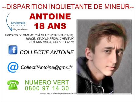avis de recherche Antoine