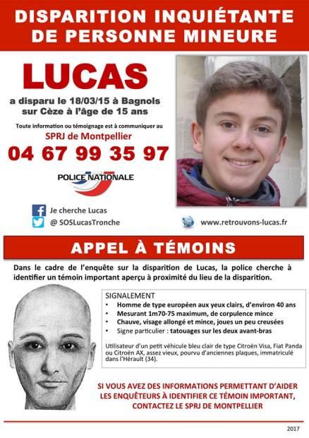 avis de recherche Lucas