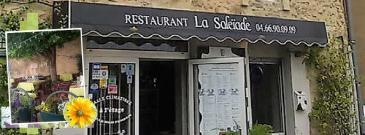 La Soleïade à Orsan dans le Gard. Le restaurant militant du goût tenu par Mathieu et Noëlle Julié.
