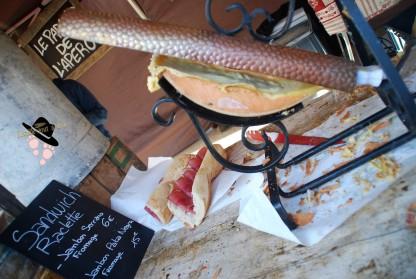 Sandwich raclette à Tanneron