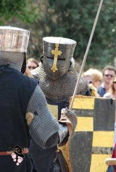 combat à l'épée à Peyrolles en provence