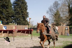 chevalier à la fin du combat