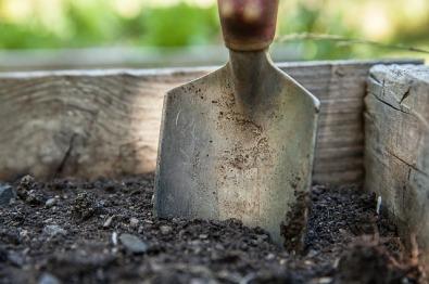 jardiner et avoir les mains dans la terre