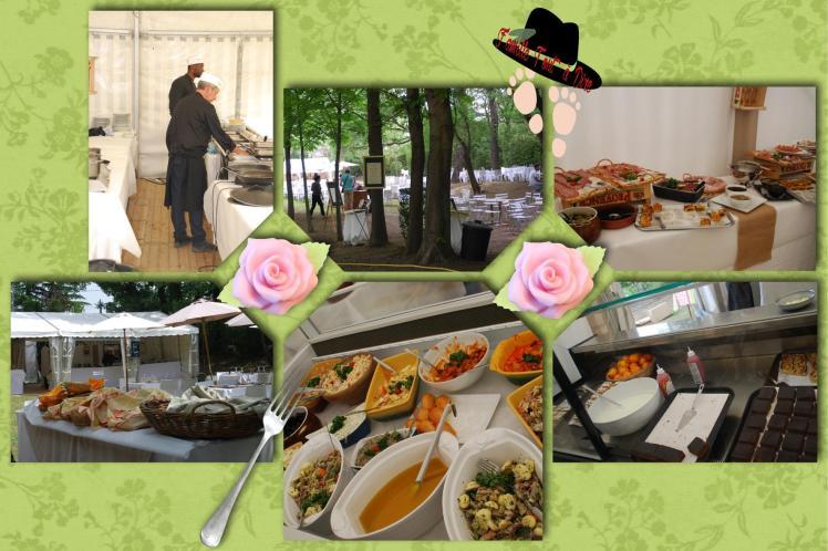 Repas buffet aux jardins d'albertas et sa journée des fleurs