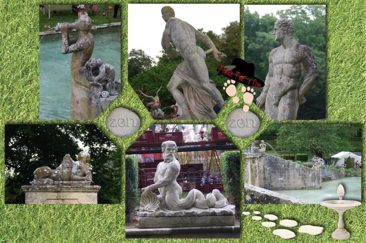 Sculpture des jardins d'albertas et sa journée des fleurs