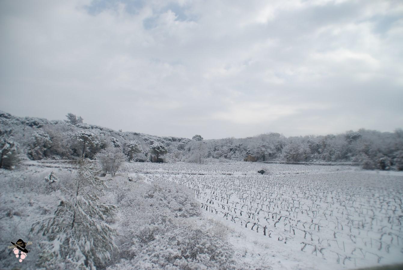neige dans le var en février 2018