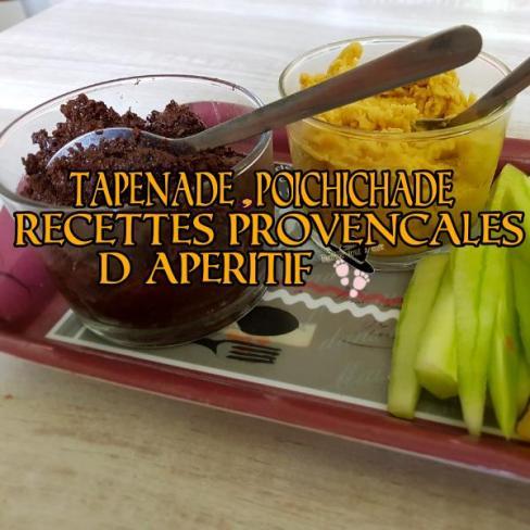 tapenade poichichade, recettes provençales d'apéritif