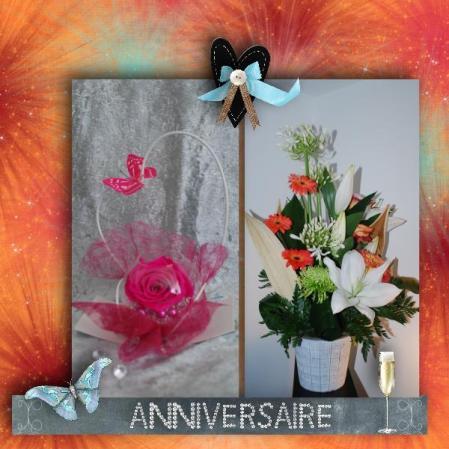 cadeau d'anniversaire composition de fleurs de chez Fleurs et Co
