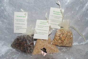 descriptions des balles de céréales des oreillers de la cocarde verte