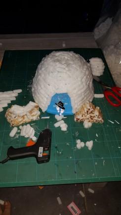 Décoration de noel igloo en polystyrène Famille Tout à Dire