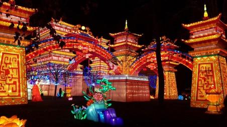 palais chinois en laternes à gaillac au festival famille tout à dire