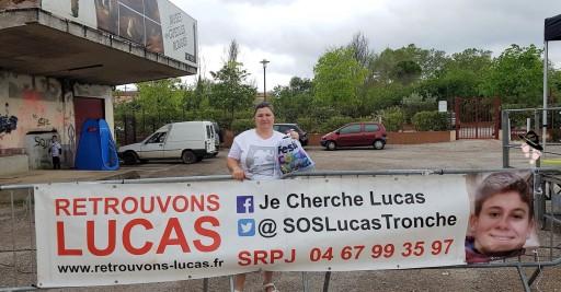Merci pour la banderole pour la disparition de Lucas Tronche