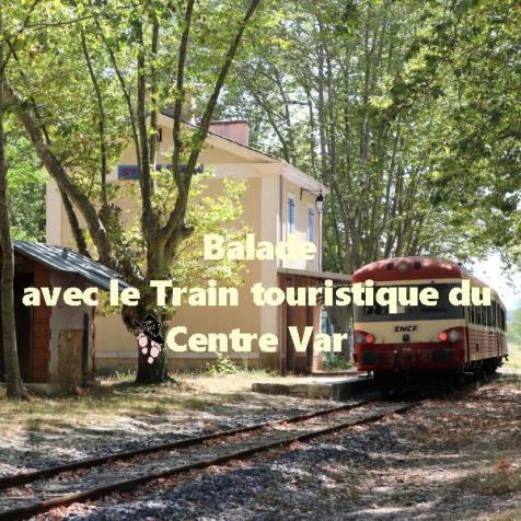 Balade avec le train touristique du centre Var ATTCV