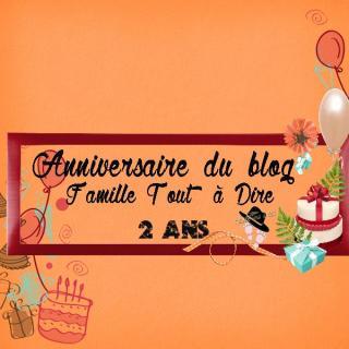 Anniversaire du blog famille tout à dire 2 ans